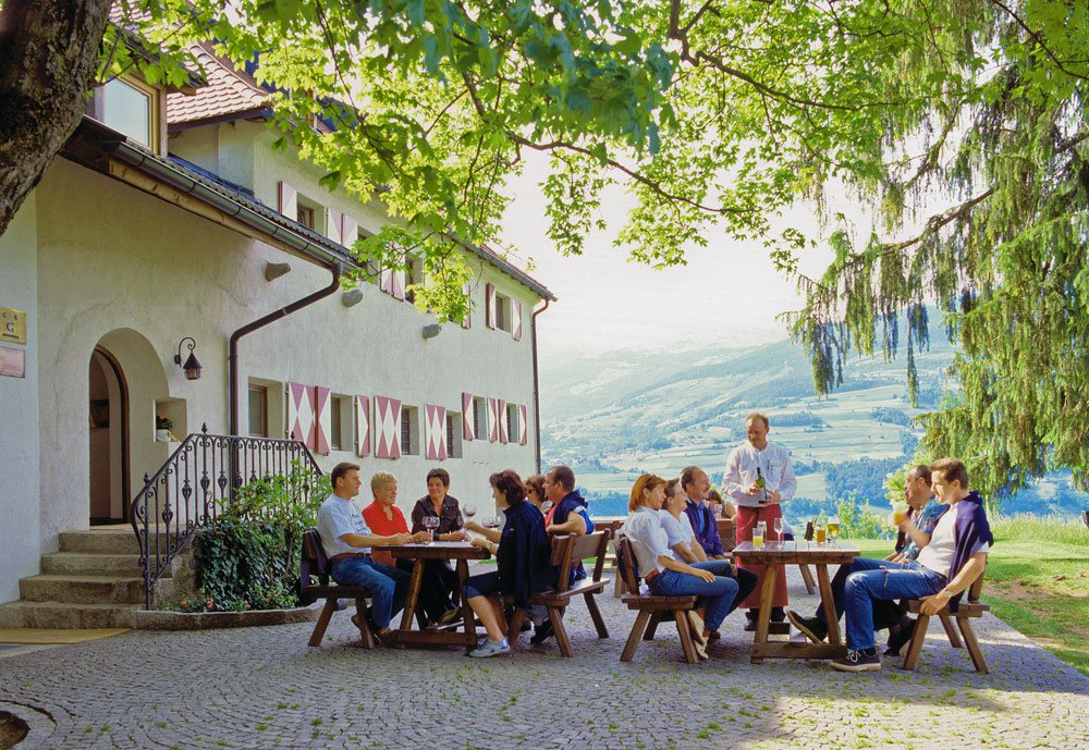 Terrace at the Inn Ansitz Fonteklaus